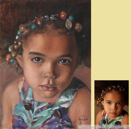 Портрет маслом на заказ по фото ручной работы на заказ