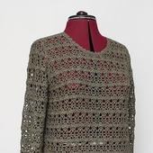 фото: Одежда (джемпер вязаный ажурный)