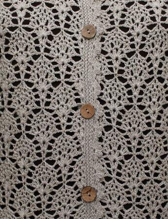 Классический жакет из кашемира  с шелком цвета льна Шик. ручной работы на заказ