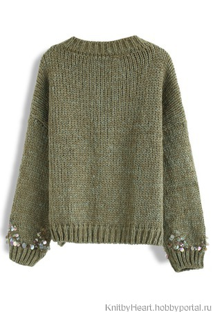 Дизайнерский вязаный свитер ручной вязки в Москве ручной работы на заказ