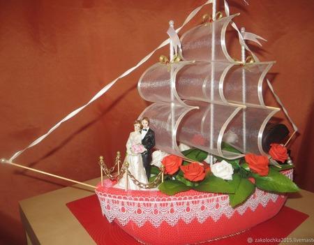 Свадебный корабль ручной работы на заказ