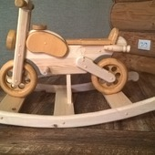 Деревянная лошадка мотоцикл