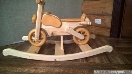 Деревянная лошадка мотоцикл ручной работы на заказ
