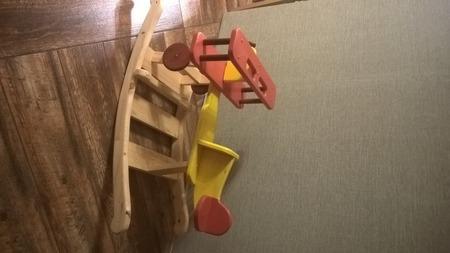Деревянная качалка Самолетик ручной работы на заказ
