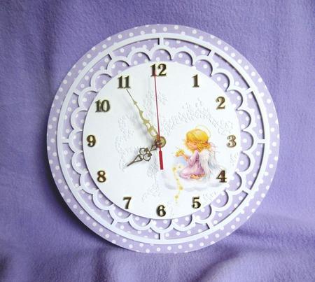 """""""Дочкино счастье"""" Настенные часы для детской ручной работы на заказ"""
