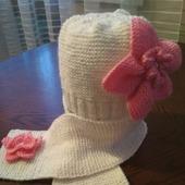 Шапочка +шарфик для модниц !