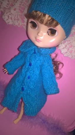 Пальто и шапочка для Блайз ручной работы на заказ