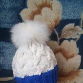 Комплект шапка + варежки.