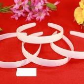 Ободок пластик цвет белый 1.8cм
