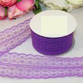 Кружево капрон цвет ярко-фиолетовый 45мм