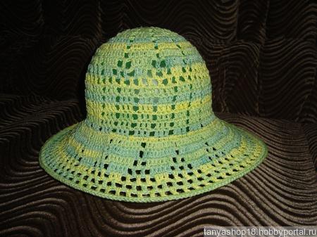 Летняя женская шляпка ручной работы на заказ