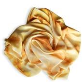 """Шелковый шарф """"Барханы"""". Шарф шелковый. Эко окрашивание."""