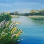 фото: Картины и панно (картина река)