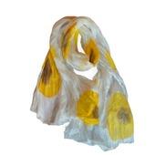 Шарф шелковый батик.Цветы.Шелковый шарф.