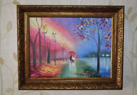 """Картина маслом пейзаж """"Любовь"""" ручной работы на заказ"""