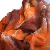Шарф шелковый батик. Грёзы. Шелковый шарф.