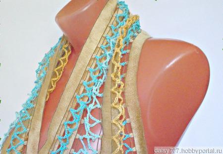 Палантин ручной работы « Медово-золотой» модель 2 ручной работы на заказ