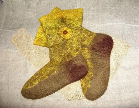 """Валяные носочки """"Тепло и комфорт"""" ручной работы на заказ"""