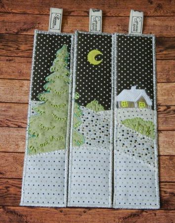 """Мастер-класс. Набор Новогодних лоскутных закладок """"Волшебница зима"""" ручной работы на заказ"""
