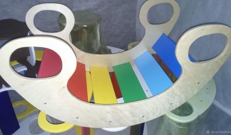 Качалка - Радуга  4 в одном. ручной работы на заказ