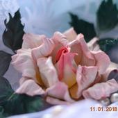 Роза брошь Констанция украшение из кожи