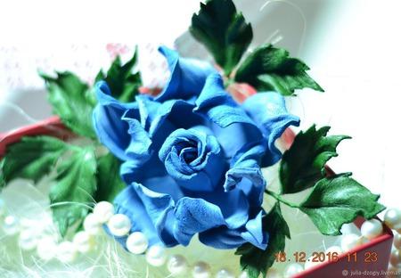 """Брошь из кожи. Роза украшение """"Земфира"""" ручной работы на заказ"""