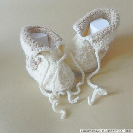 Пинетки - ботиночки Мишки ручной работы на заказ