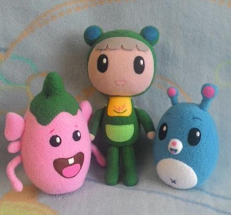 Руби, Йо-Йо и Клубничка (персонажи мультфильма) ручной работы на заказ
