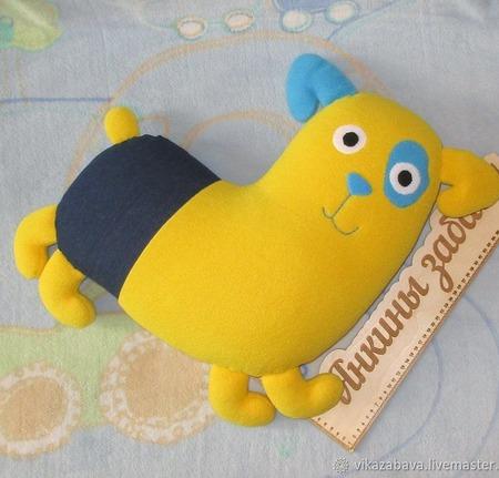 Подушка-игрушка Любимый пес ручной работы на заказ