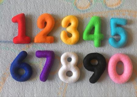 Цифры из фетра ручной работы на заказ