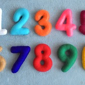 Цифры из фетра
