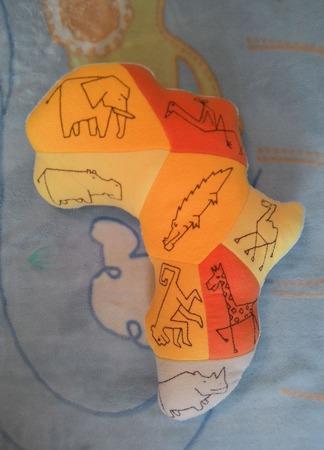 Подушка-игрушка Африка ручной работы на заказ