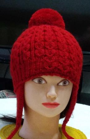 Мастер класс. Шапочка для девочки с ушками «Тюльпанчики», размер 54-56 см. ручной работы на заказ