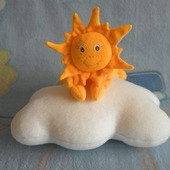 Комплект для малыша комфортер Солнышко и подушка-облачко