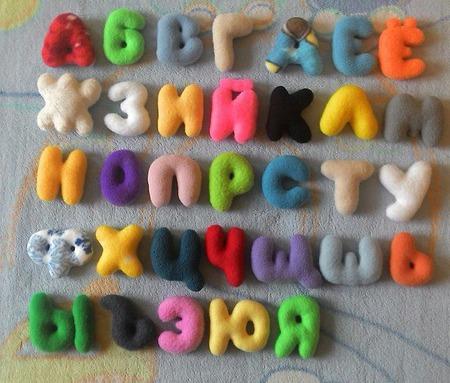 Мягкий алфавит ручной работы на заказ