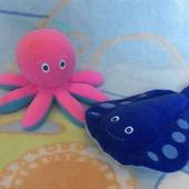 Морские обитатели. Скат и осьминожек