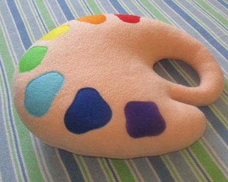 Подушка-игрушка Палитра ручной работы на заказ