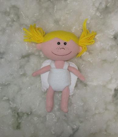Текстильная кукла Ангелинка ручной работы на заказ