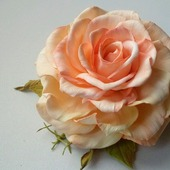 """Уникальная брошь Роза """"Адель"""""""