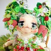 Кукла Ягодная феечка . Текстильная интерьерная кукла.