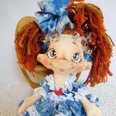 Текстильная кукла Фея Весёлых Хвостиков Кареглазка. Кукла интерьерная.