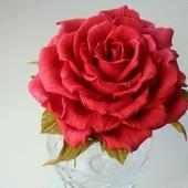 Брошь Роза алая