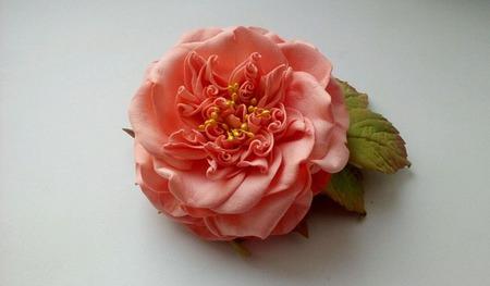 """""""Английская Роза"""" брошка ручной работы на заказ"""