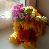 Венок для невесты из роз Ручной работы