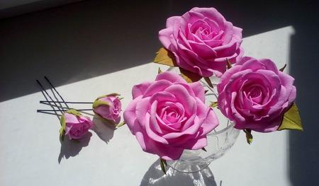 Набор шпилек для волос с розами ручной работы ручной работы на заказ