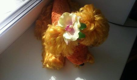 Орхидея на резиночке для волос ручной работы на заказ
