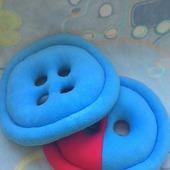 Подушки-игрушки Пуговицы
