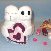 Тюлени неразлучники (свадебные игрушки)