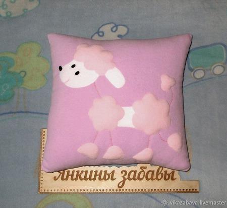Подушка-игрушка Пудель Неженка ручной работы на заказ