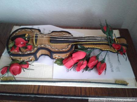 Скрипка с конфетами ручной работы на заказ